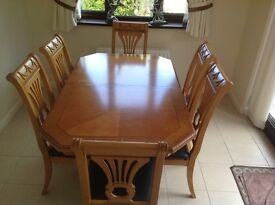Italian Dining room table and 6 chairs