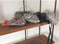 Bundle of assorted evening bags