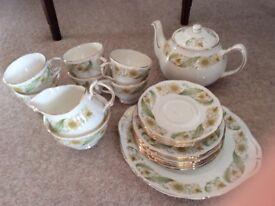Bone China Duchess Greensleeves 6 piece tea set