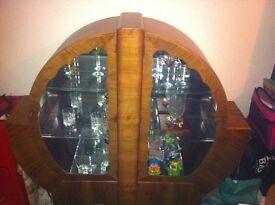 Original Art Deco display cabinet. REDUCED IN PRICE.