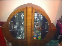 Original Art Deco display cabinet. REDUCED IN PRICE.