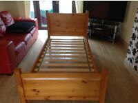 Pine single bed excellent condition