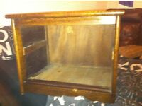 Antique box used for TV stand
