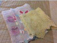 Assortment of cafe net curtains