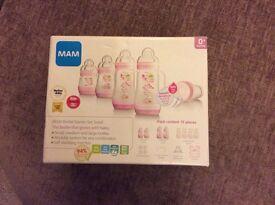 Pink MAM anti colic starter set