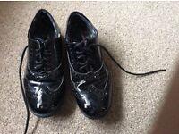 GIRLS hush puppies school shoes UK size 2