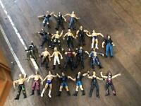 22 Assorted Jakks Pacific Wrestling Toy Figures - To Include Circa 1990s and Early 2000s