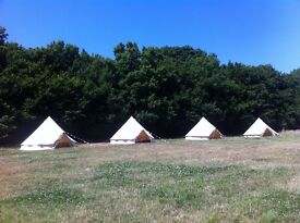 Part Time outside summer work - crew required for bell tent company