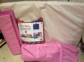 Red Kite Travel Cot with matress and separate playmat