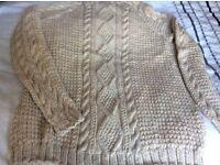 Hand-knitted Aran sweater