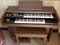 Yamaha Electric Organ, Stool and Music books