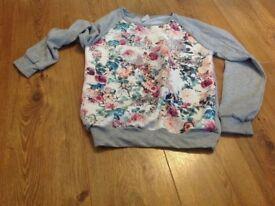 Zara floral jumper never worn 11-12 years