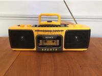 Sony Sports Cassette tape player stereo CFM-104 vintage