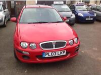 REDUCED-ROVER 25-1396cc-LONG MOT-RED-VERY LOW MILES 57.000-2 X KEYS-P/X WELCOME £795ono