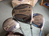 Ladies golf equipment. In good Used condition. Quality brand Lady Cobra Driver, 3 wood and 5 wood