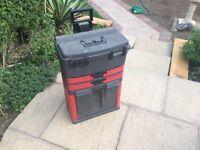 Mobile Roller WorkShop Chest Trolley Cart Storage Tool Box Toolbox Wheel Plastic