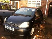 2003 Toyota Yaris recently new timing kit and clutch short MOT