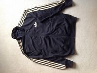 Full matching Adidas Firebird Tracksuit Size L - Black and Gold