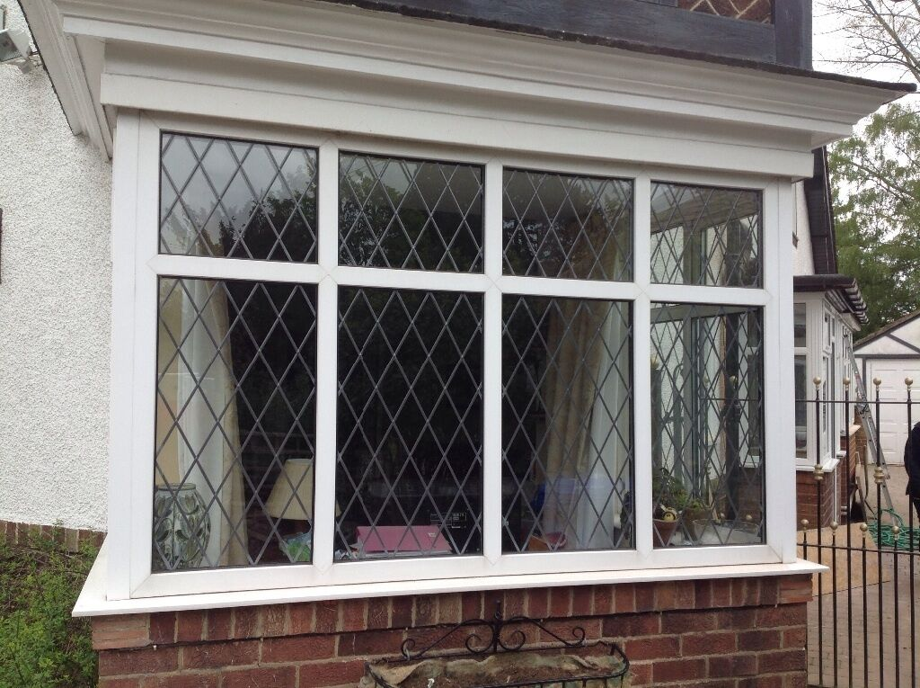 upvc bay window lattice effect sealed unit double glazed