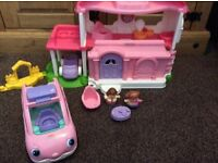 Fisher price little people happy house and little people car
