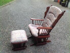 Rocking chair and foot rest