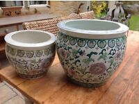 Pair of beautiful Chinese style Planters