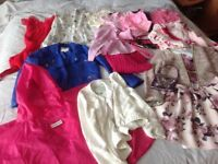Large bundle of girls age 9-10 clothes ( 17 items) jigsaw, hunter, mayoral, Ralph Lauren, Mona Lisa