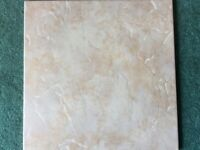 Brand new boxed beige coloured ceramic tiles