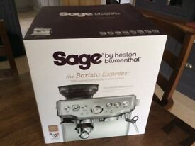Sage by Heston Blumenthal Barista Express Bean-to-Cup Coffee Machine - New, boxed and unused