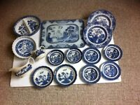 Real Old Willow pottery large collection bundle