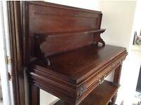 Beautiful antique dark oak coffer