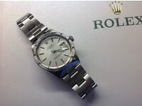 GENUINE GENTS VINTAGE ROLEX OYSTER PERPETUAL DATE 1501 MODEL STAINLESS STEEL ROLEX OYSTER BRACELET