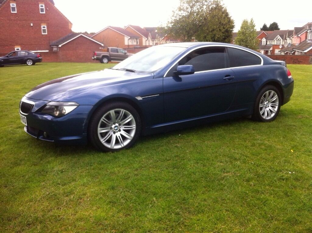 BMW 645CI BLUE COUPE PANORAMIC ROOF LONG MOT 6 SERIES 645 630