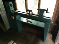Wood Turning Laith complete with stand and tool cabinet