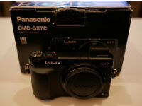 Panasonic GX7 Micro Four Thirds Camera - Body Only