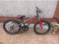 Boys/ girls Apollo spider mountain bike front suspension mint condition,