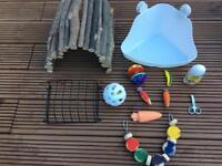 Rabbit guniea pig cage accessories