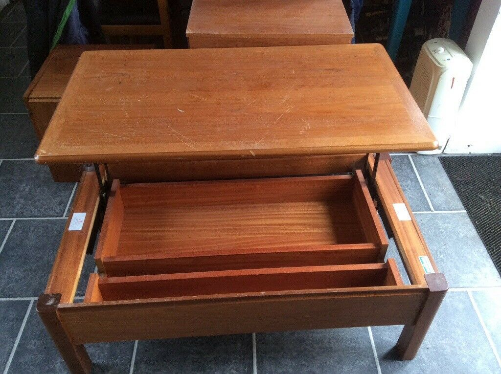 Nathan Vintage Coffee Table With Storage