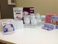 Avent Breast Pump with other goodies