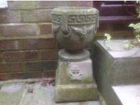 2 PLANTERS WITH PLINTHS
