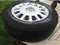 2 Tyres good tread 185/70