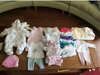 Bundle of baby clothes size tiny baby, hardly used