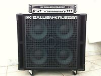 Gallien Krueger 1001rb II head and 410rbh cabinet.