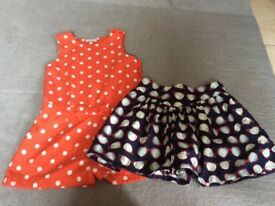 Girls shorts and jump suit (5 years)