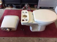 Toilet pan c/w dual flush cistern and soft close seat
