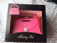 Handbag shaped money box