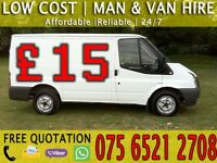CHEAP MAN & VAN HIRE - HOUSE/FLAT/FURNITURE REMOVAL MOVING DELIVERY - MOTORBIKE RECOVERY SERVICE