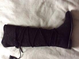 Karen Millen Suede Over Knee Boots