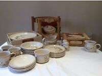 Marks and Spencer harvest tableware -dinner and tea set- Excellent condition, no cracks or chips.