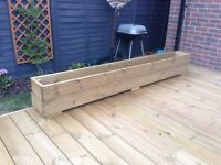 NEW Large solid wood planter, plant pot perfect for garden boarder or decking